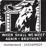 when shall we meet again  ... | Shutterstock .eps vector #1431699029