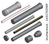 set of various plastic pipes... | Shutterstock .eps vector #1431702989