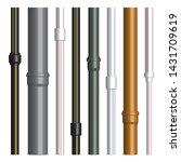 set of various plastic pipes... | Shutterstock .eps vector #1431709619