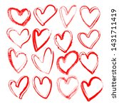 red handdrawn vector grunge... | Shutterstock .eps vector #1431711419