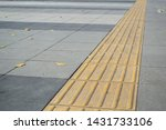 tactile paving on footpath for... | Shutterstock . vector #1431733106
