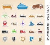 set of colored transport icons  ... | Shutterstock .eps vector #143173774