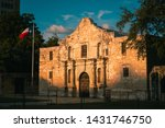 The Alamo At Sunrise With The...