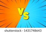 comic versus background. versus ... | Shutterstock .eps vector #1431748643