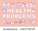 health problems word concepts...
