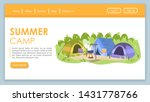 summer camp landing page vector ...