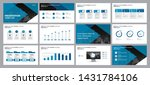 set blue business presentation... | Shutterstock .eps vector #1431784106