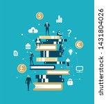 lots of business people working ... | Shutterstock . vector #1431804026