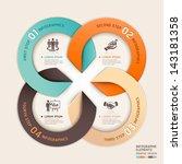 modern arrow circle business... | Shutterstock .eps vector #143181358