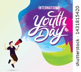 international youth day poster  ... | Shutterstock .eps vector #1431815420