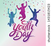 international youth day poster  ... | Shutterstock .eps vector #1431815423