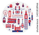 london  england and united... | Shutterstock .eps vector #1431818966