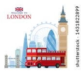 london  england and united... | Shutterstock .eps vector #1431822899