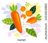 fresh ripe carrot vegetable...   Shutterstock .eps vector #1431823883
