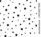 star seamless pattern. white... | Shutterstock .eps vector #1431827330