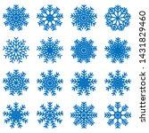snowflake icons kit. set of...   Shutterstock .eps vector #1431829460
