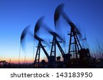 oil pumps. oil industry... | Shutterstock . vector #143183950