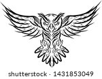 line hand drawing scary flying...   Shutterstock .eps vector #1431853049