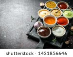 A variety of delicious sauces...