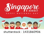 9 august   singapore national... | Shutterstock .eps vector #1431860906