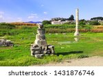 column and ruins of temple of... | Shutterstock . vector #1431876746