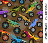 monster truck show vector... | Shutterstock .eps vector #1431891050