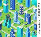 building skyscraper in... | Shutterstock .eps vector #1431891059