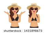 surprised excited wave... | Shutterstock .eps vector #1431898673