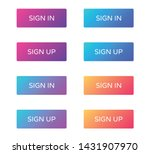 sign in sign up web buttons set....