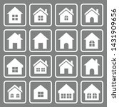 house icon set vector symbol... | Shutterstock .eps vector #1431909656