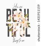 typography slogan on flower... | Shutterstock .eps vector #1431911159
