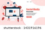 web template with social media...   Shutterstock .eps vector #1431916196