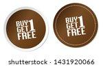 buy 1 get 1 free stickers...   Shutterstock .eps vector #1431920066