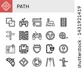 set of path icons such as...   Shutterstock .eps vector #1431921419