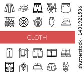 set of cloth icons such as...   Shutterstock .eps vector #1431921536