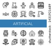 set of artificial icons such as ... | Shutterstock .eps vector #1431921689