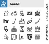 set of score icons such as... | Shutterstock .eps vector #1431922226