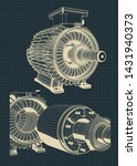 stylized electric motor... | Shutterstock .eps vector #1431940373