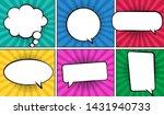 retro comic empty speech... | Shutterstock .eps vector #1431940733
