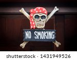Wooden No Smoking Board With...