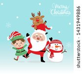 merry christmas and happy new... | Shutterstock .eps vector #1431949886