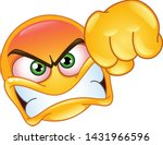 angry emoji emoticon showing a... | Shutterstock .eps vector #1431966596