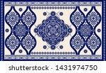 two color ornamental vector... | Shutterstock .eps vector #1431974750