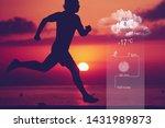 silhouette of male sportsman... | Shutterstock . vector #1431989873