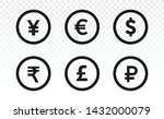 currency icons. collection of... | Shutterstock .eps vector #1432000079