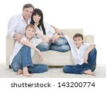 portrait of the european family ... | Shutterstock . vector #143200774