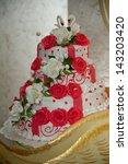 wedding cake | Shutterstock . vector #143203420