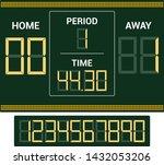 scoreboard vector score board... | Shutterstock .eps vector #1432053206