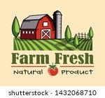 farm fresh hand drawn logo... | Shutterstock .eps vector #1432068710
