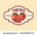 farm fresh hand drawn logo... | Shutterstock .eps vector #1432068713